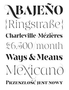 Typeface Love: Hoban - Good design makes me happy