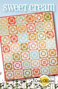 Sweet Cream Quilt Pattern by Crazy Old Ladies at KayeWood.com. The block is a simple variation of a churn dash block. http://www.kayewood.com/item/Sweet_Cream_Quilt_Pattern/3070 $10.00
