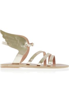Ancient Greek Sandals | Ikaria metallic leather wing sandals | NET-A-PORTER.COM  Cutest shoes ever.