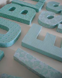 DIY decoupage letters