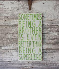 Superhero - Hand Painted Sign. $35.00, via Etsy.