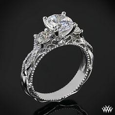 Verragio Beaded Twist 3 Stone Engagement Ring