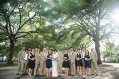 the wedding party outside the Aquarium in Liberty Square