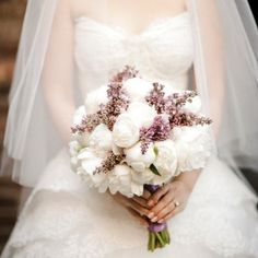 40 Of The Best Bridal Bouquets We Have Ever Seen – The Knot - Peonies & Lilacs