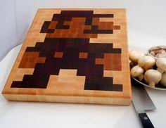 8-Bit Mario Cutting Board #nintendo