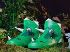 Tricera Hi-Tops by Arcaix Laboratories: Available in sizes for kids and adults. #Shoes #Triceratops