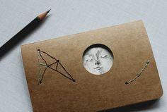 journal with window - Full Moon by Heidi Burton 142 SEK