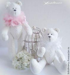 Мишки белоснежные - белый,белоснежный,мишка,мишки тедди,мишка тильда,тильда