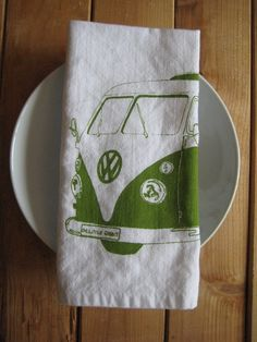 rabbit, vws, organic cotton, bus, vdub, screens, vw vans, volkswagen, cloth napkins
