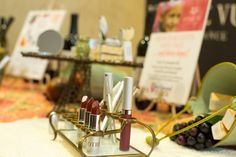 We love this lipstick rack from Anthropologie. (Note: Available is this 2-tier stand or as a single stand.)