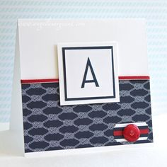 Nautical style masculine card by Angela Sargeant