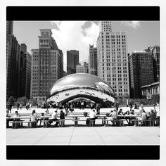 Gotta love Cloudgate. This photo just taken today... #architecture #Chicago #design #art