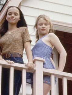 "christina ricci & thora birch. I should just make a "" awesome people"" board or something."