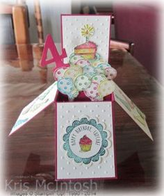 Card in a Box, Sketched Birthday Stamp Set, Birthday Basics Designer Paper, #cardinabox