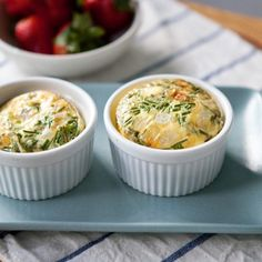Ham, Cheddar and Chive Egg Bakes