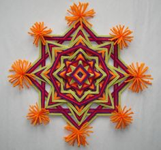 Hippie Festival - Ojo de Dios - Yarn Mandala