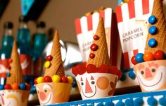 Vintage Circus Clown Cupcake Wrappers  a by SpaceshipsLaserBeams, $4.75
