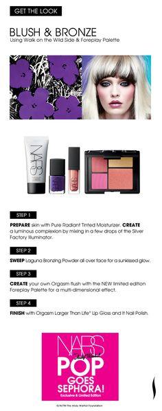 Get the Look: Blush & Bronze #NARS #Sephora