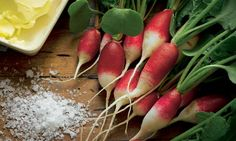Radishes with butter and sea salt soups, veggie recipes, radishes, mint soup, herbs, crunches, butter, radish recip, breakfast radish