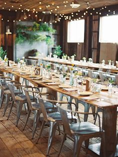 Lovely long wooden tables | Intimate Wedding at Terrain