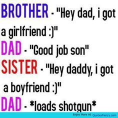 boyfriend quotes for girlfriend | Funny Jokes Boyfriend Girlfriend Sister Brother Dad Quote