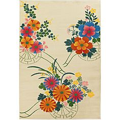 $97.99 What a pretty rug! Great for a porch or the guest room!