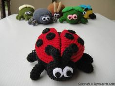 Crochet Purse - LADYBug - Coin Purse. $7.00, via Etsy.