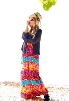 Boho chic/Sabbychic  , Sonia Rykiel in Cardigans, Indah in Dresses, We Dream in Color in Jewelry, Bebe in Ankle Boots / Booties, Burton Buffalo in Hats