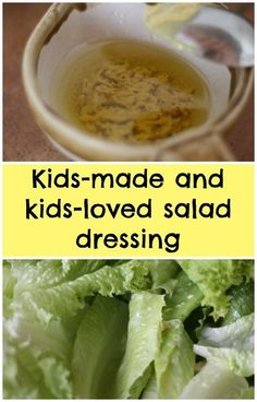 How do you get your kids to eat salad? Home made salad dressing! A great way to get them to eat some leafy greens!