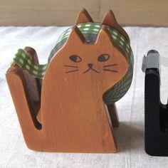 cute Cat Tape Dispenser Natural