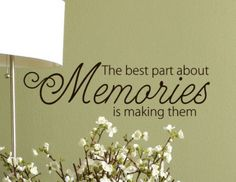 Memories Quote Vinyl lettering words Wall Decal by HouseHoldWords, $16.00