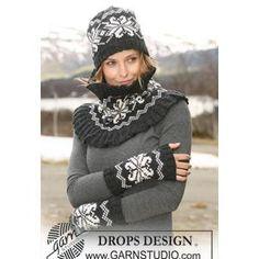 Wrist Warmer Pattern FREE knitting pattern from Drops