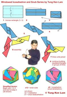 Modular Origami Tutorials from BOS Creative Folders : Tung Ken Lam