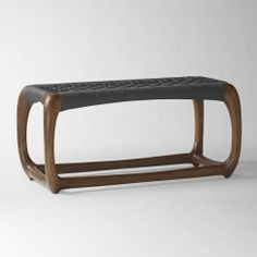 West Elm John Vogel bench in charcoal.  LOOOVE.