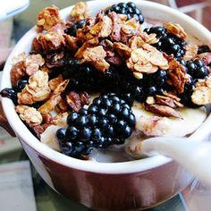 Almond and flaxseed granola recipe.