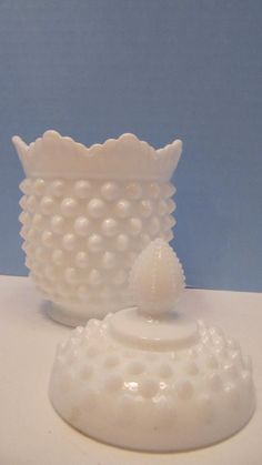 Beautiful Fenton White milk Glass Hobnail by savannahsecretcellar, $25.00
