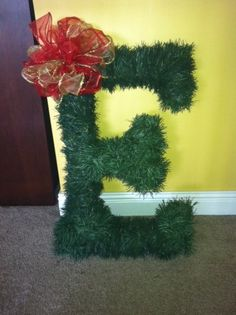 Monogrammed wreaths for Christmas