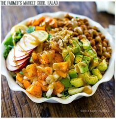 Farmers Market Cobb with spiced chickpeas and sweet potatoes