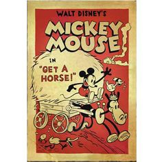 Get A Horse! Mickey Limited Edition Commemorative Lithograph - 1250 points