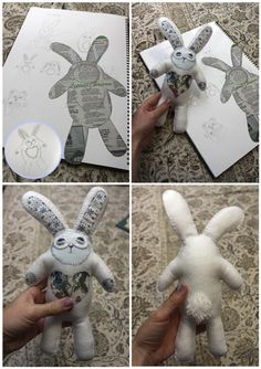 bunny, my second try at making stuffed animals