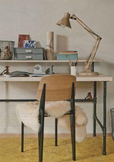 Domino magazine office desk