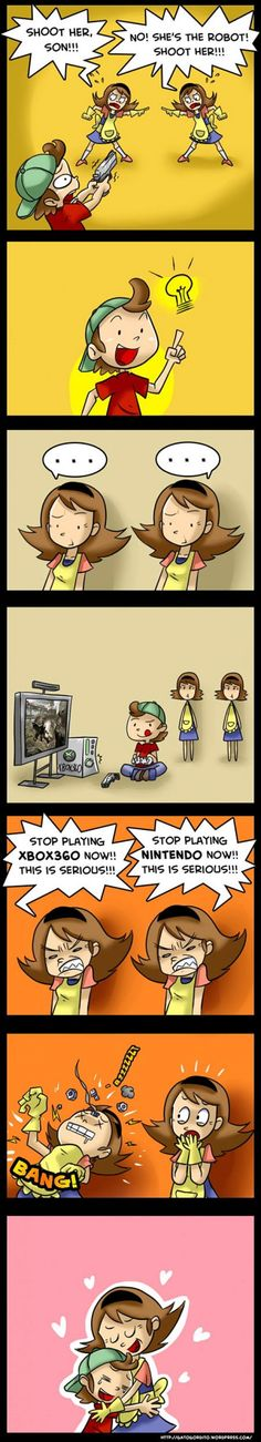 mom and videogames