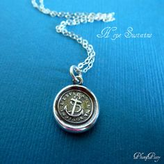 Hope Sustains  Victorian Whimsy Anchor Wax Seal by PlumAndPoseyInc, $39.00