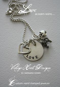 'love' - hand stamped jewlery