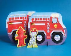 Firefighter Themed Centerpiece