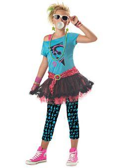 Tween 80s Valley Girl Costume - 80s Pop Star Costumes for Teens