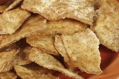 Cinnamon Pita Chips--perfect for dessert or a crunchy sweet snack!  #cinnamon #pitachips #crunchy #snackideas
