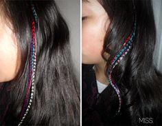 Hair Feathers DIY
