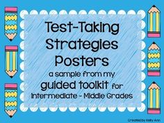 FREE TEST-TAKING STRATEGIES POSTERS! {Follow me on TpT for more great freebies!}