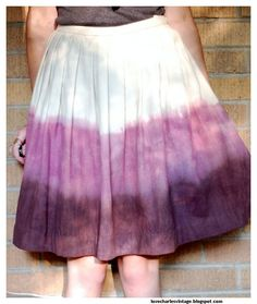 dip-dying a skirt! I'll need a few more skirts, and I am SO trying this.